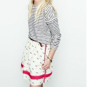 Madewell lightstich skirt